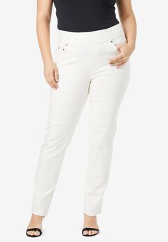 Comfort Waistband Jeans, IVORY