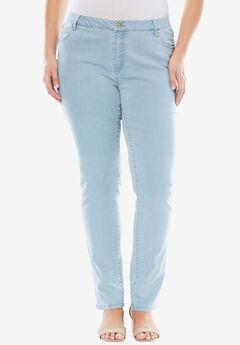 True Fit Straight Leg Jeans, BLEACH WASH