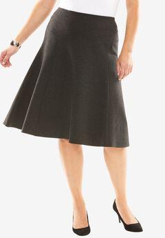 Ponte Knit Flounced Skirt,