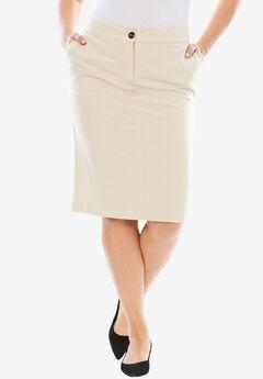 Bi-Stretch Short Skirt,