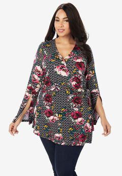Faux Wrap Tunic,