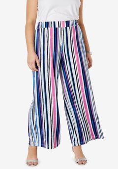 Travel Knit Wide Leg Pants,