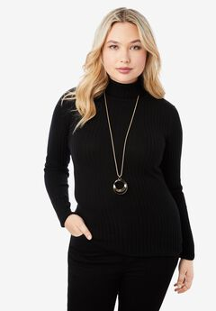 Ribbed Cotton Turtleneck,