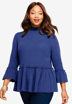 Peplum Pullover Sweater,