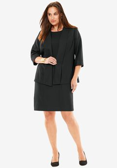 Shawl Collar Jacket Dress,