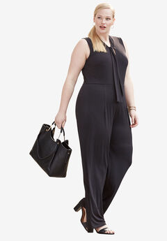 Stretch Wide-Leg Jumpsuit,