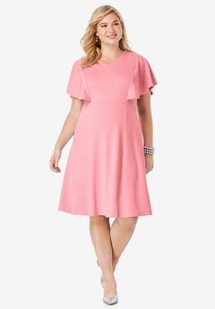 Flutter Sleeve Dress,