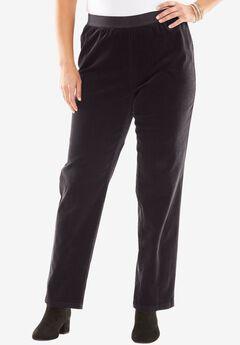Corduroy Straight Leg Pull-On Pants,