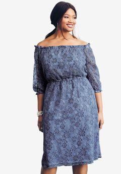 Blouson Lace Dress,