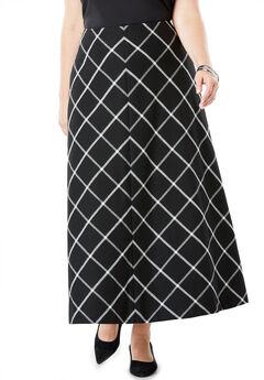 Wool-Blend Maxi Skirt,