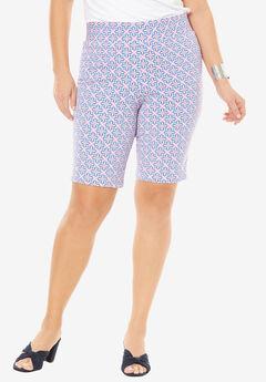 Tummy Control Twill Shorts,