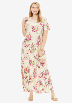 Applique Maxi Dress, RADIANT ORCHID TROPICAL