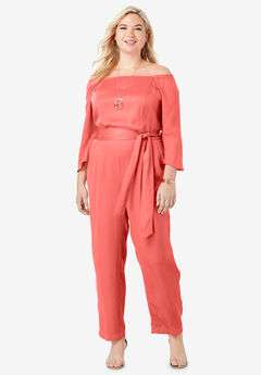 Off-The-Shoulder Tencel® Jumpsuit,