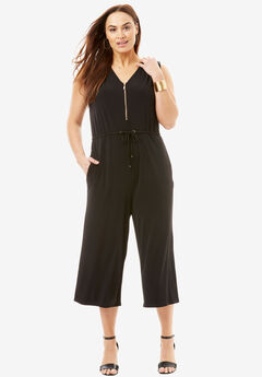 Cropped Wide-Leg Jumpsuit,