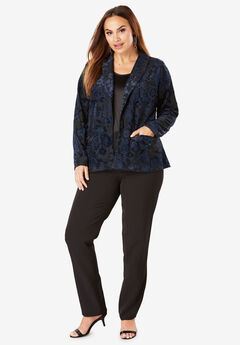 Burnout Velour Pantsuit, NAVY