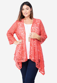 Lace Topper, SUNSET CORAL