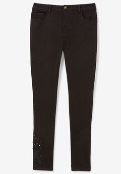 Embellished Ankle Jean,