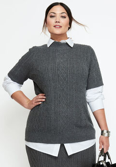 Cable Mockneck Sweater,