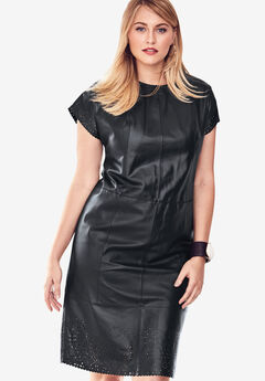 Leather Dress with Laser Cutouts,