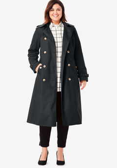 Long Trench Coat, BLACK