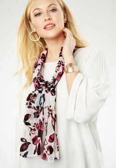 Burnout Scarf, MULTI BURNOUT FLORAL