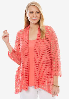 Crochet Cardigan Sweater,