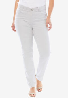 Tummy Control Straight Jean, SOFT GREY