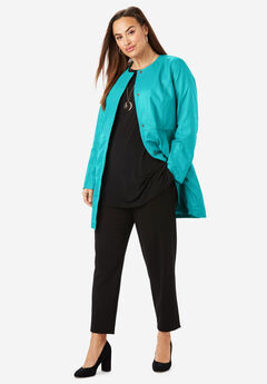 Three-Quarter Leather Jacket, JADE