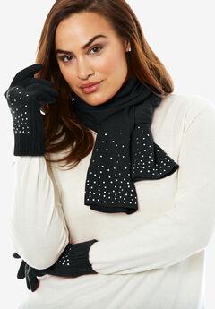 Jeweled Scarf and Glove Set,
