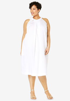 Tencel® Tie-Neck Dress,