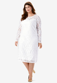 Lace Shift Dress,