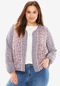 Collarless Georgette Jacket,