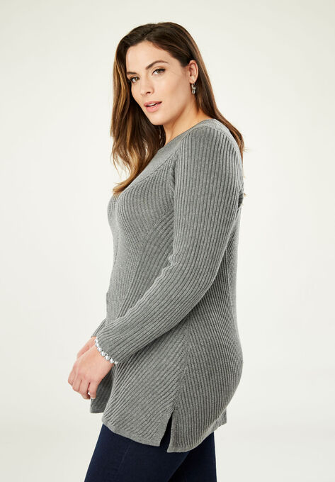 f9bf9a002 Ribbed Pullover Tunic Sweater