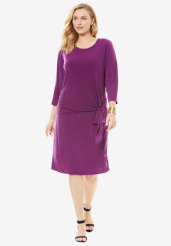 Travel Knit Overlay Dress,