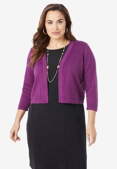 Three-Quarter Sleeve Shrug,