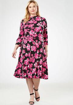 Travel Knit Fit & Flare Dress,
