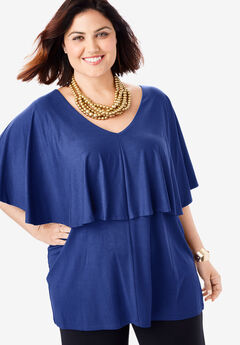 V-Neck Flutter Tunic,