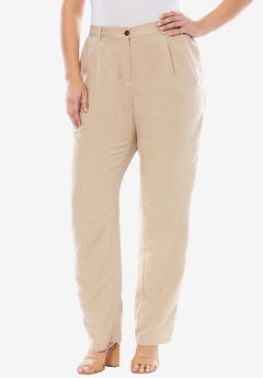 Linen Blend Pants, NEW KHAKI