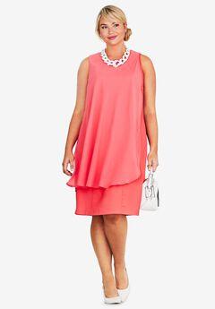 Overlay Sheath Dress,