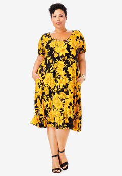 Crossback Swing Dress,