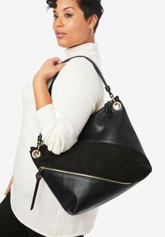 Zip Hobo Shoulder Bag,