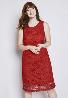 Lace Tank Shift Dress,
