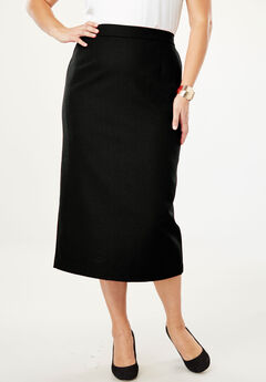 Wool-Blend Midi Skirt,