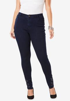 Embellished Ankle Jean,