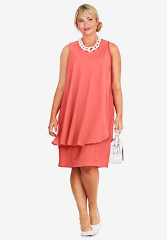 Overlay Sheath Dress,