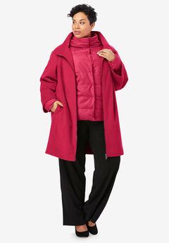 3-in-1 Puffer Coat, CLASSIC RED