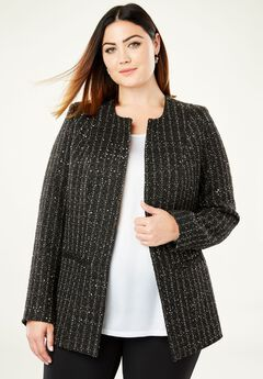 Sequin Tweed Jacket,