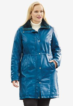 Leather Anorak Jacket,