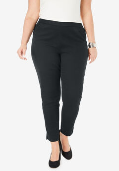 Ankle-Length Denim Jegging, BLACK