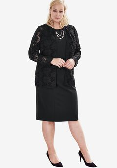 Lace Jacket Dress,